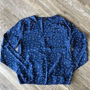 3113238d148354 Madewell Tops - New Madewell Silk Heart Wrap Shirt Top Blouse XS